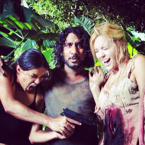 """Lost images """"Rehearsal"""" with Michelle Rodriguez, Naveen ..."""
