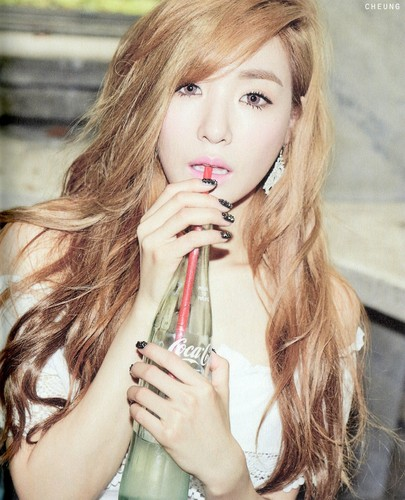 "Tiffany Hwang wallpaper possibly with a portrait called [Scans] Tiffany ""Holler"" photobook"