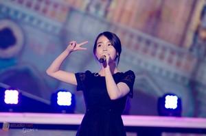 "140904 IU performing on MBC's ""Turn Up Your Radio"" (크게 라디오를 켜고)"