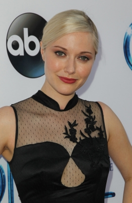"Georgina Haig achtergrond probably with a portrait called ABC's ""Once Upon A Time Season 4"" Red Carpet Premiere"