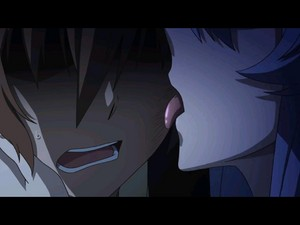 Akame licking situation