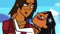 Alejandro holds Rikki - total-drama-island-fancharacters wallpaper