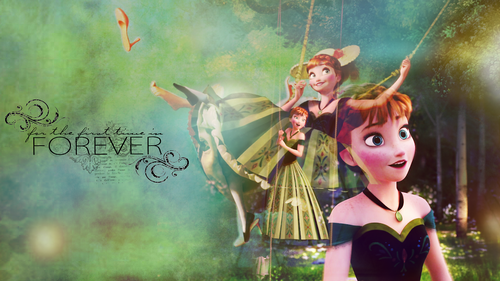 Frozen wallpaper entitled Anna Wallpaper