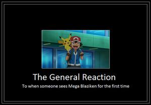 Ash's reaction when he first saw Mega Blaziken