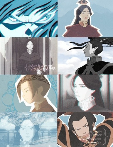 Avatar: The Last Airbender wallpaper probably with a bonnet called Azula and Ursa