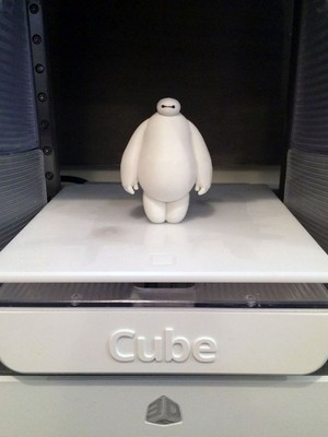Baymax being printed in 3D at World Maker Faire New York