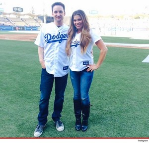 Ben and Danielle at Dodgers game