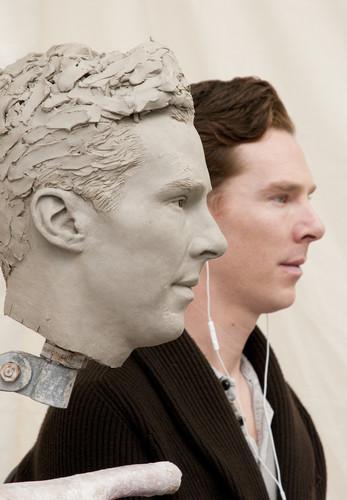 Benedict Cumberbatch kertas dinding called Benedict's Wax Statue