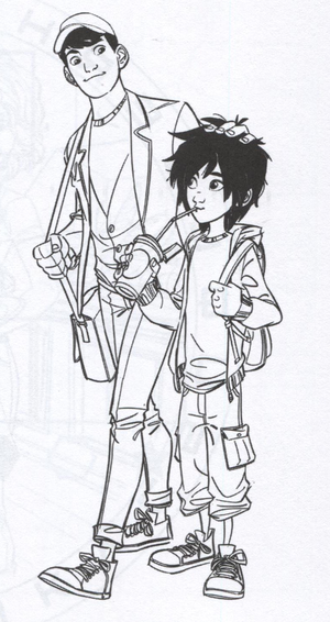 Big Hero 6 Official Illustration - Tadashi and Hiro