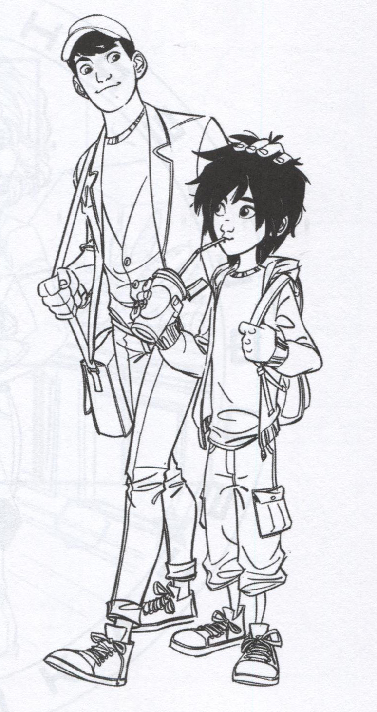 big hero 6 coloring pages hiro - photo #18