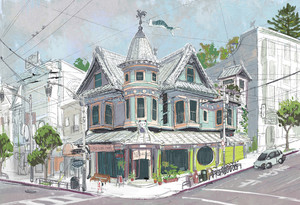 Big Hero 6 Concept Art - Cass's Cafe