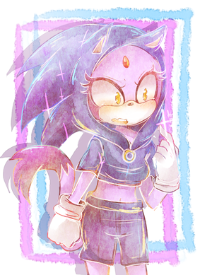 Blaze in a Sonic Costume