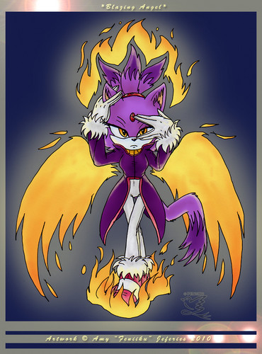 Blaze the Cat karatasi la kupamba ukuta containing anime entitled Blazing Angel