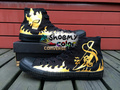 Bleach Logo High Top Converse Canvas Shoes Hand Painted Black Sneaker for Men/Women