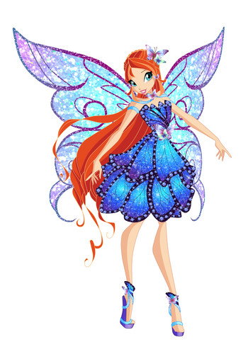 Winx Club wallpaper probably with a bouquet called Bloom Butterflyix