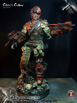 Calvin's Custom one sixth scale original डिज़ाइन series Gears of Peace MKIV Apocalypse Riddick 2.0
