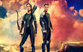 peeta-mellark-and-katniss-everdeen - Catching Fire wallpaper
