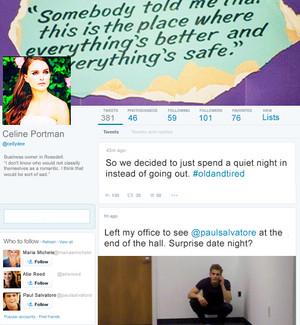 Celine Portman's twitter!