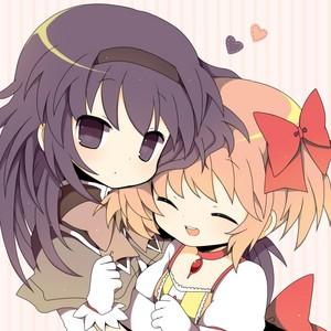 ちび Homura and Madoka