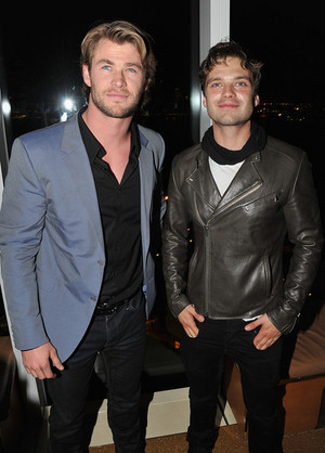 Chris Hemsworth and Sebastian Stan