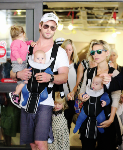 Chris and Elsa with their kids