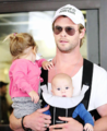 Chris with his daughter and one of his twin boys