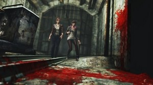 Claire Redfield and Moira burton in Resident Evil: Revelations 2