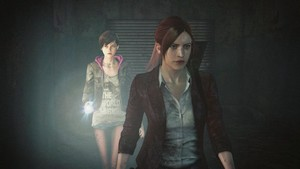 Claire with Moira burton in Resident Evil: Revelations 2