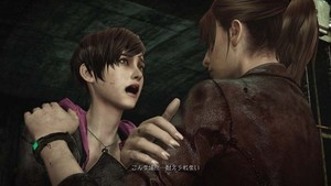 Claire with Moira 伯顿 in Resident Evil: Revelations 2