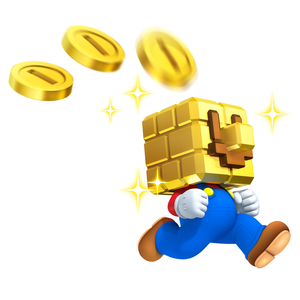 Coin block head mario
