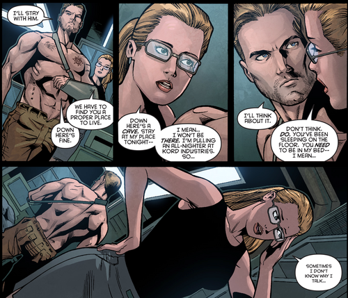 Oliver & Felicity achtergrond containing anime called Comic - Arrow 2.5