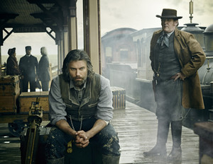 """Cullen Bohannon (Anson Mount) and Thomas """"Doc"""" Durant (Colm Meaney)"""
