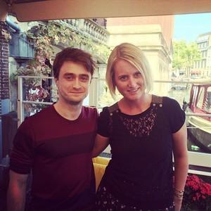 Daniel Radcliffe With press In Amsterdam (Fb.com/DanielJacobRadcliffeFanClub)
