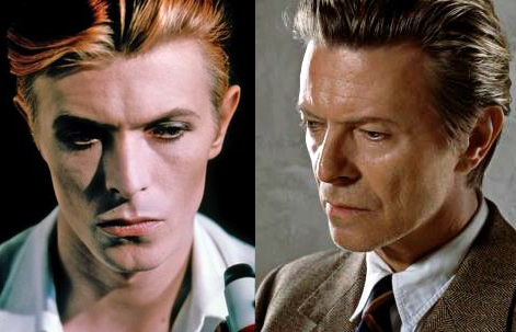David Bowie - then and now