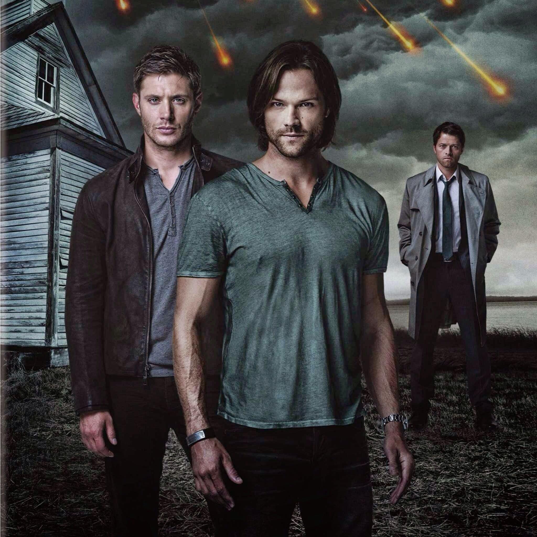 Dean, Sam, and Castiel