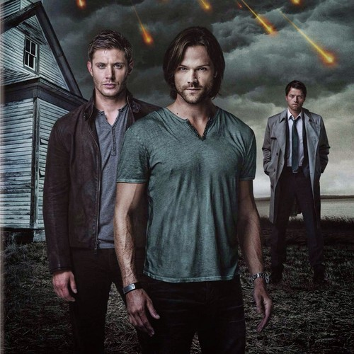 Supernatural wallpaper probably with a street, a business suit, and a carriageway titled Dean, Sam, and Castiel