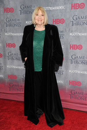 Diana Rigg (Lady Olenna Tyrell) - March 18, 2014