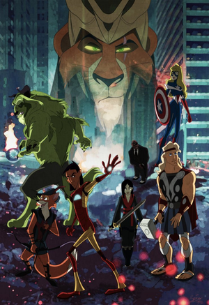 disney Characters as the Avengers