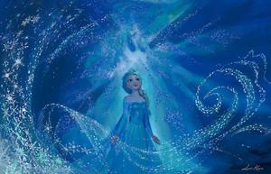 "Disney Fine Art - nagyelo - ""One With the Wind and Sky"" sa pamamagitan ng Lisa Keene"