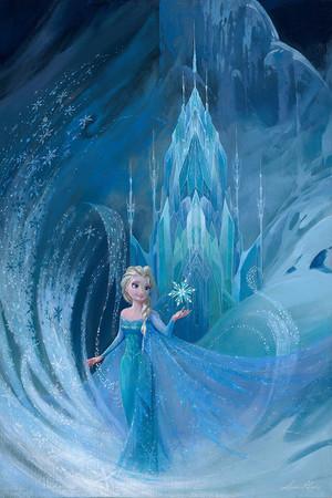 """ディズニー Fine Art - アナと雪の女王 - """"Well Now They Know"""" によって Lisa Keene"""