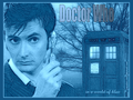 Doctor Who in a world of blue - television wallpaper