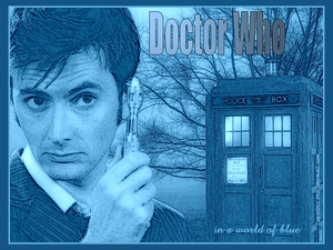 Doctor Who in a world of blue