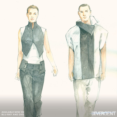 Divergent wallpaper containing a well dressed person titled Dress style sketch for candor