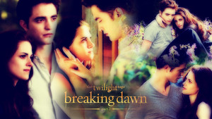 Edward and Bella Breaking Dawn 2<3