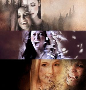 Elena, Bonnie and Caroline