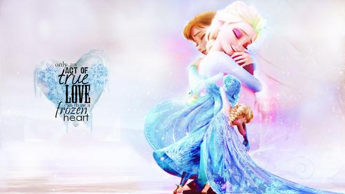 elsa e ana wallpaper titled Elsa and Anna wallpaper