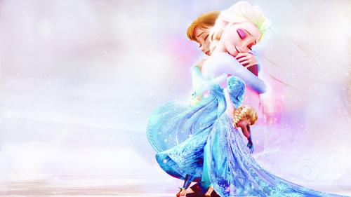 Elsa the Snow क्वीन वॉलपेपर entitled Elsa and Anna वॉलपेपर