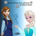 Elsa and Anna - disney-princess fan art