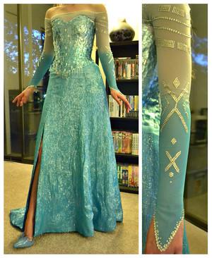 Elsa cosplay dress
