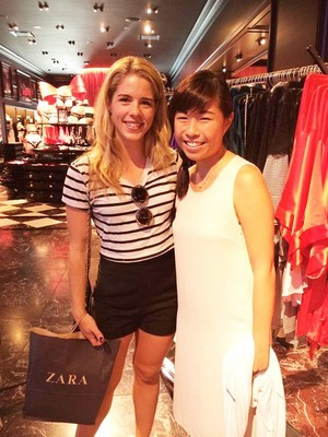 Emily with a fan